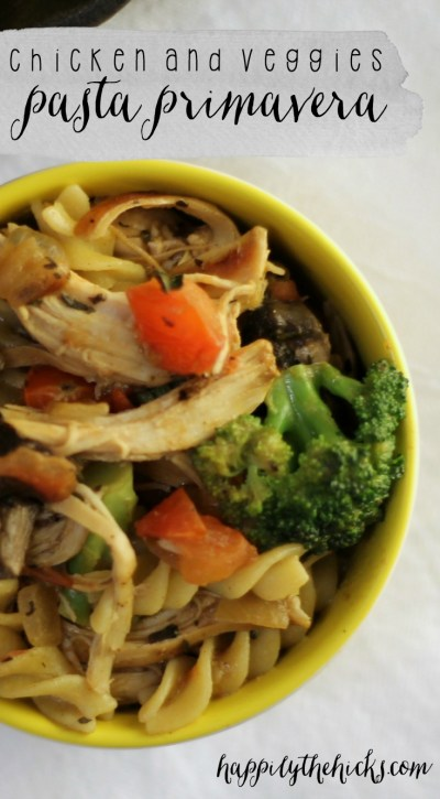 Chicken and Veggies Pasta Primavera Pinterest
