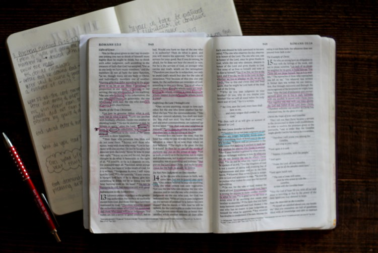 Meditating on His Word- Romans 12:12 | read more at happilythehicks.com