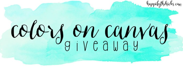 Colors on Canvas Giveaway | read more at happilythehicks.com