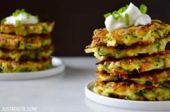 Zucchini Fritters from justataste.com