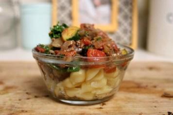 Italian Eggplant Veggie Sauce | read more at happilythehicks.com