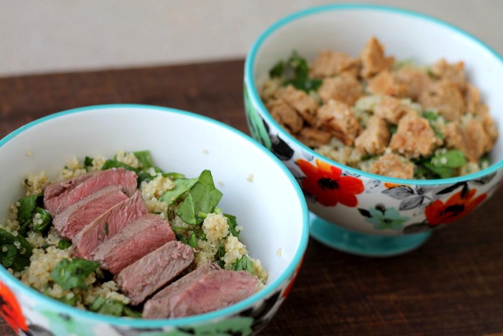 Quinoa Protein Bowl   read more at happilythehicks.com