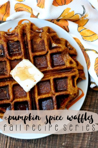 Pumpkin Spice Waffles- Fall Recipe Series | read more at happilythehicks.com
