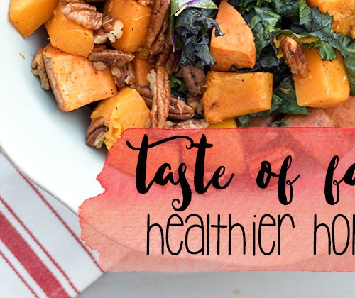 Taste of Fall Salad (a healthier holiday recipe) | read more at happilythehicks.com