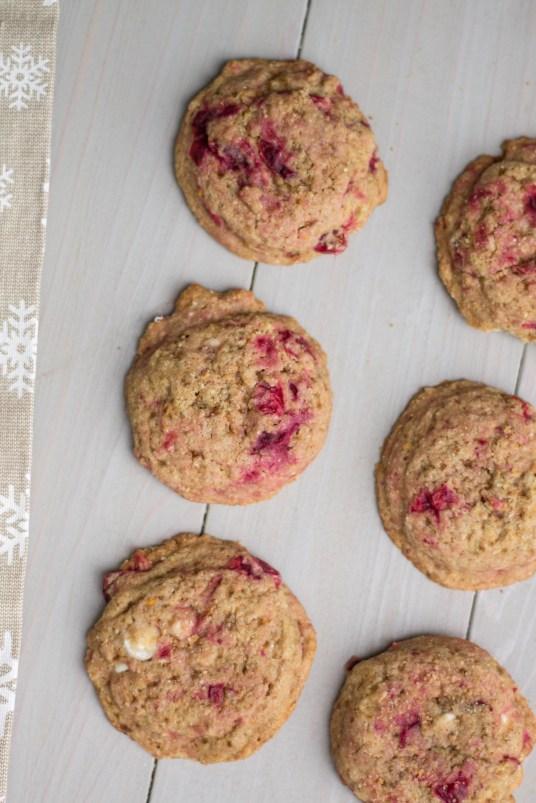 Cranberry Orange Cookies - A Healthier Holiday Recipe | read more at happilythehicks.com