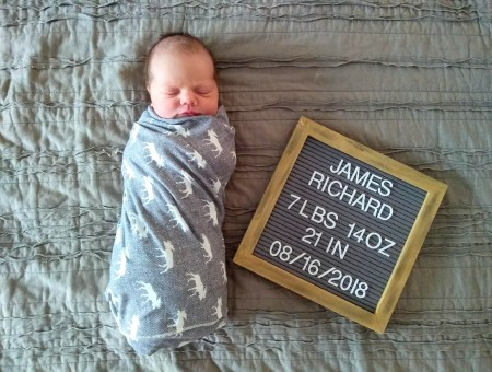 James Richard Birth Story | read more at happilythehicks.com