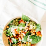 Roasted Chickpea and Broccoli Salad