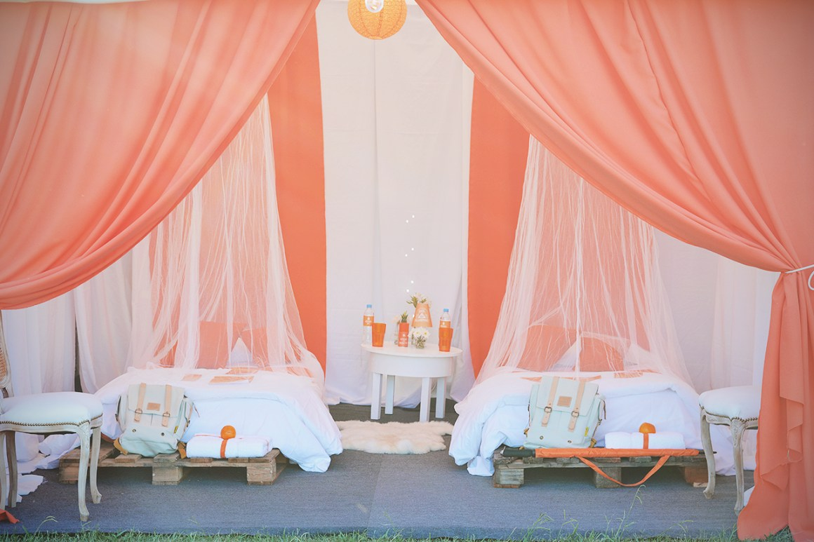 Glamping tent.