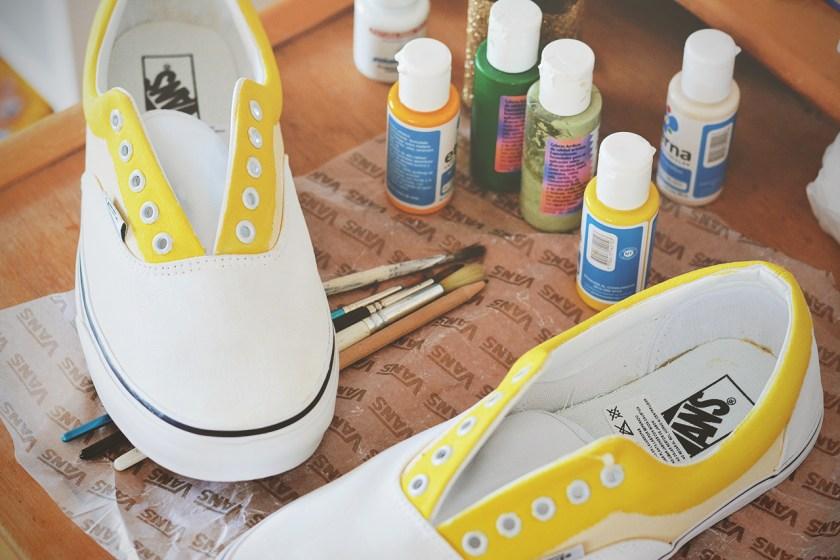 Primer paso terminado: pintar las bases de colores.