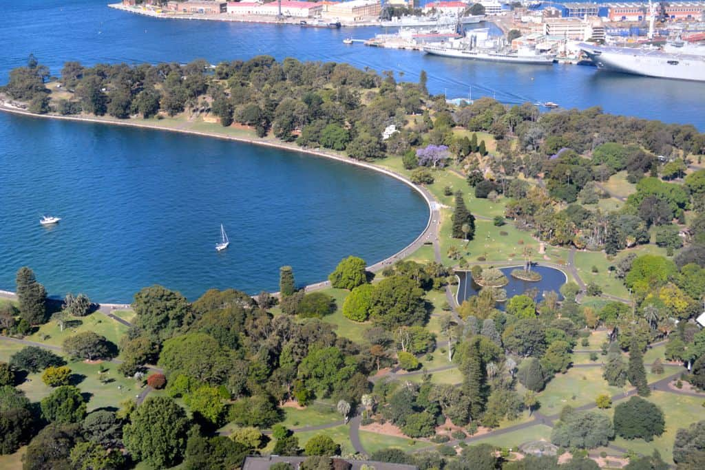 The Royal Botanic Gardens from above