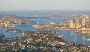 Sydney Harbour Bridge, CBD, Opera House aerial