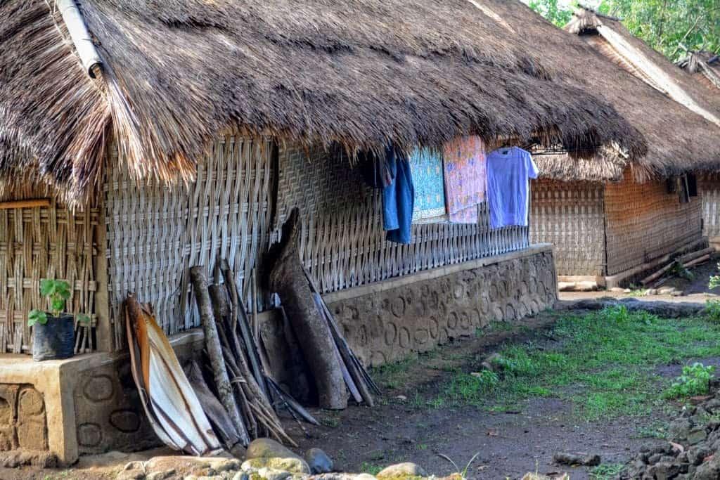 A house in Senaru traditional village in Lombok