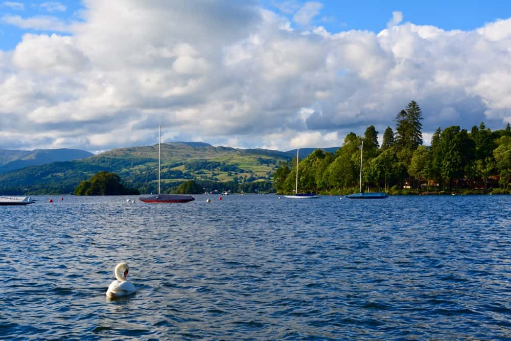 Lake Windermere in the Lake District, Cumbria UK