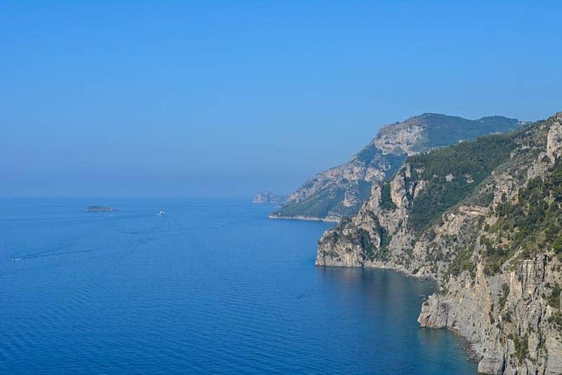 Spectacular outlook on the coast around Positano