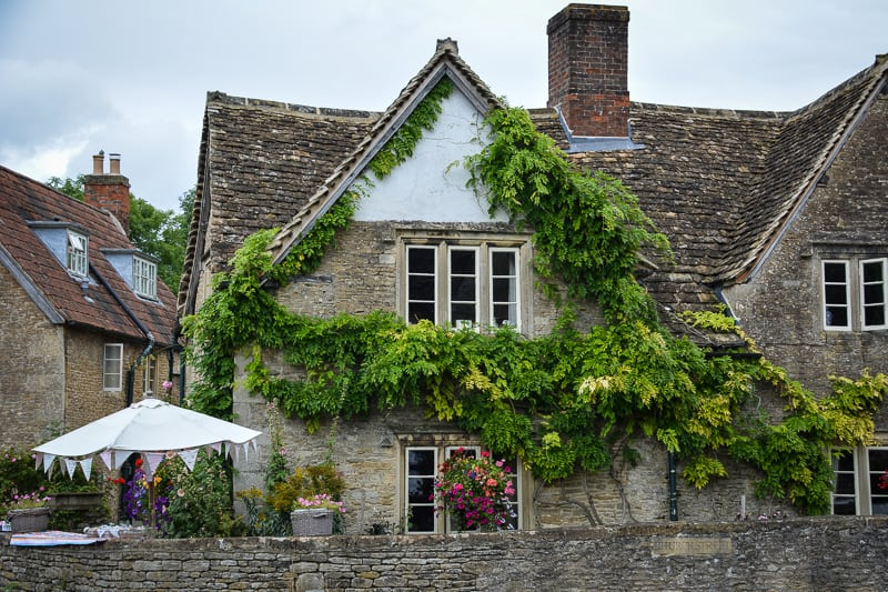 Lacock village is a well preserved English village with buildings from the 18th century