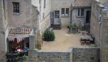 A Couple has Found a Romantic Corner in Carcassonne