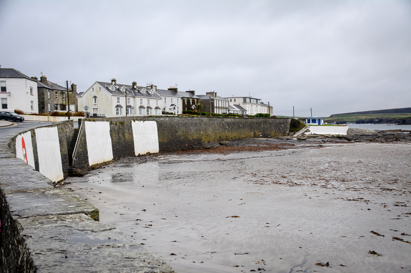 A glimpse of the seawall in Kilkee