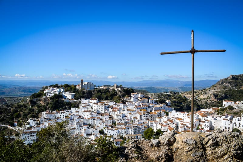A view of Casares from the police station