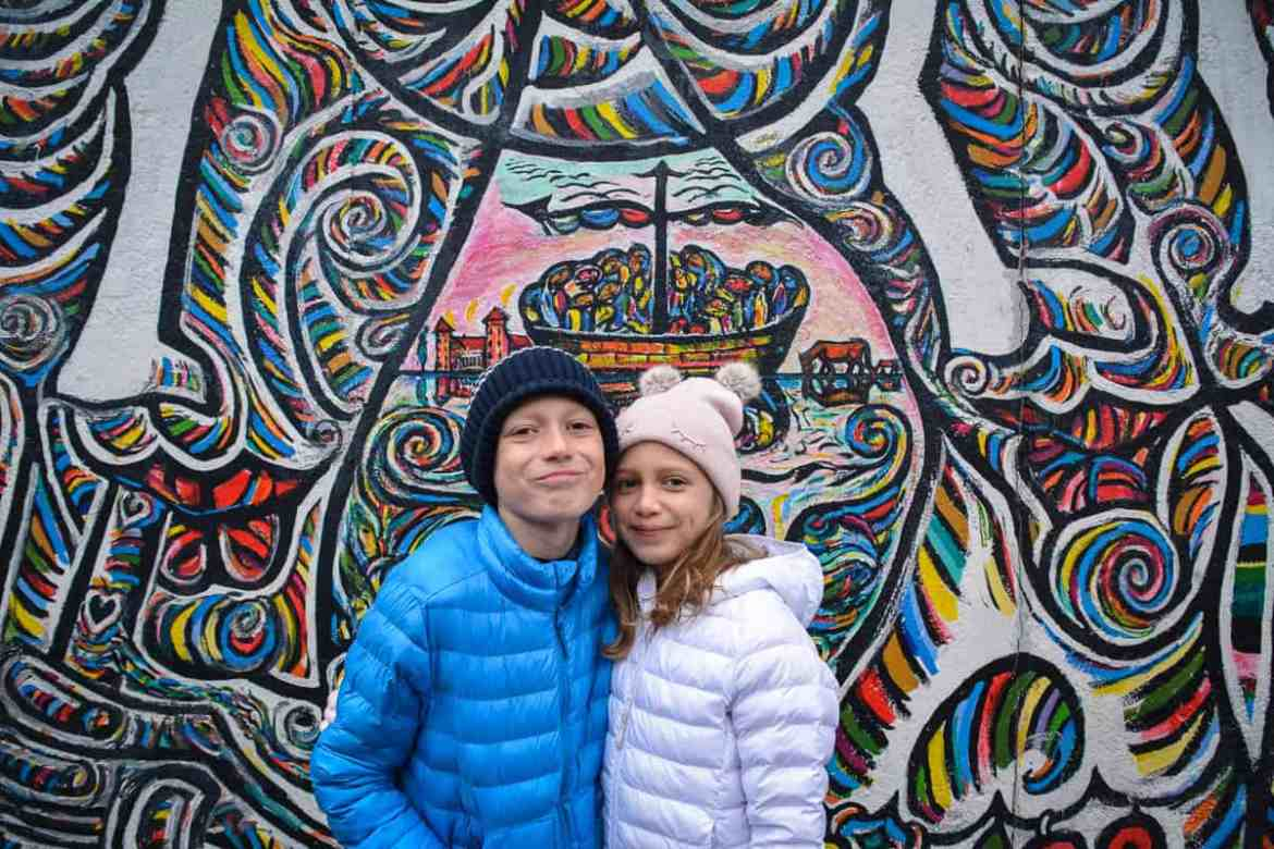 The Kids in front of East Side Gallery