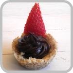Guilt free chocolate tart