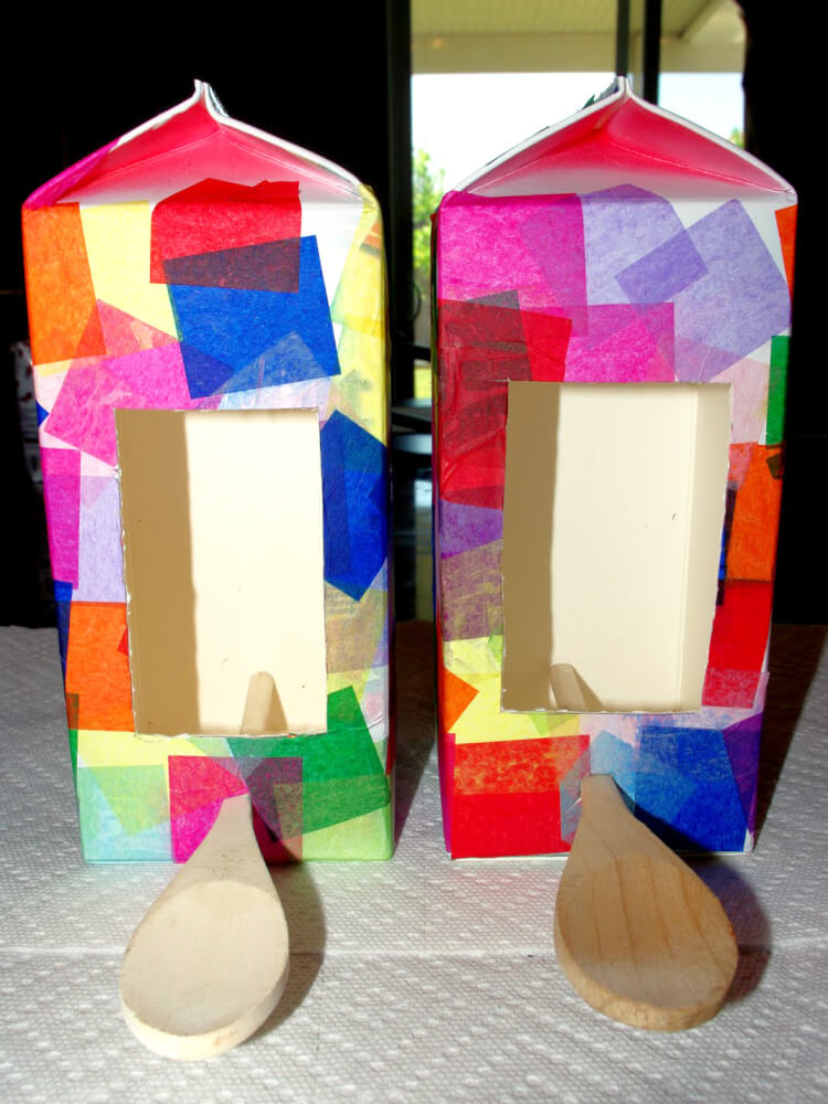 Recycled milk carton birdhouses and bird feeders are a fun quick and easy kids craft that anyone can make!