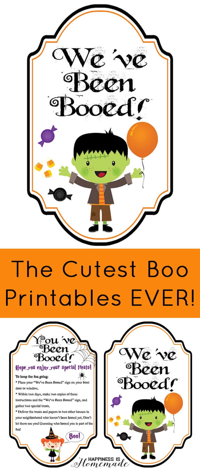 The Cutest We've Been Booed Printables Ever - Boo Your Neighbors this Halloween