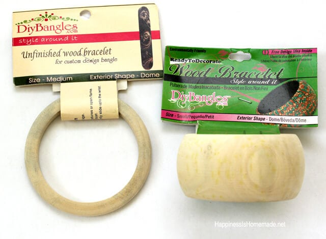 Unfinished Wood Bangle Bracelets