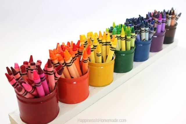 Rainbow Crayon Holder Organizer