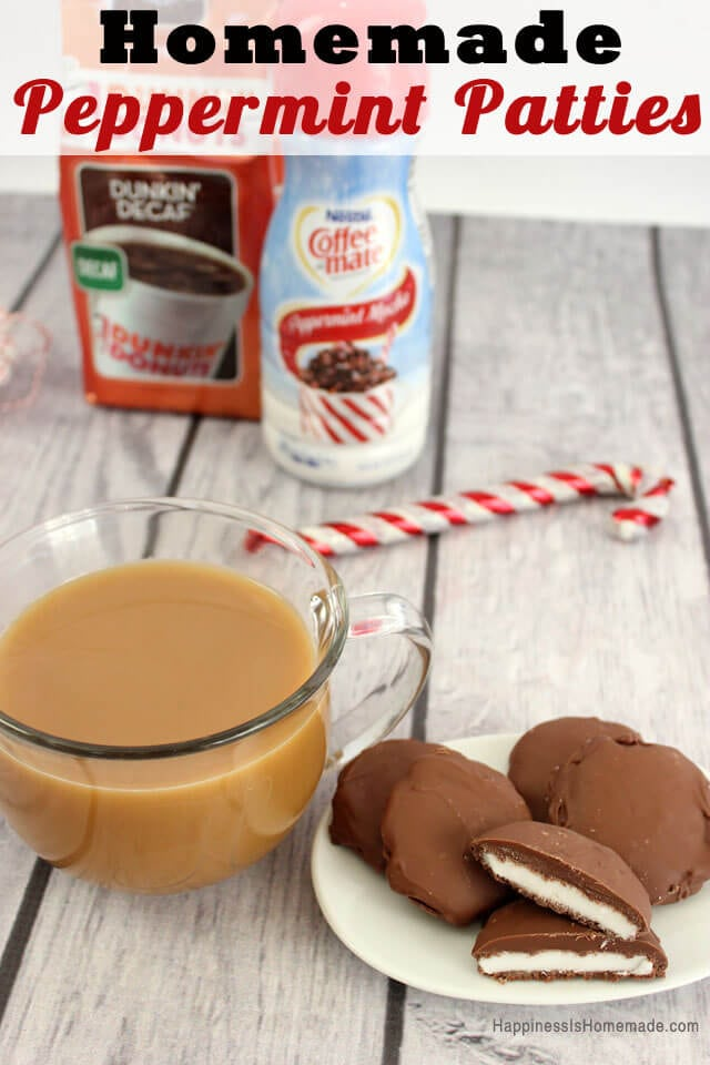 Homemade Peppermint Patty Recipe #loveyourcup #shop via Happiness is Homemade
