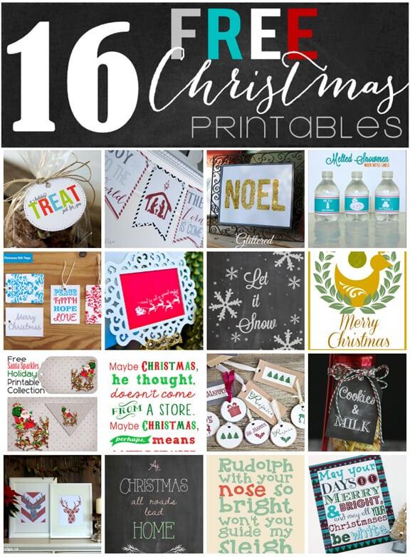 16 Free Christmas Printables