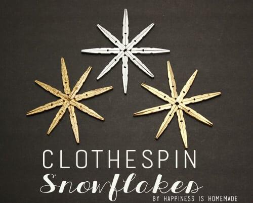 Clothespin Snowflake Tutorial