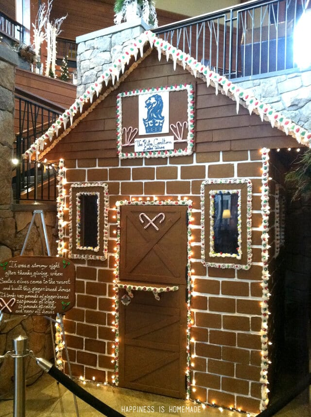 Gingerbread House at the Ritz-Carlton Lake Tahoe