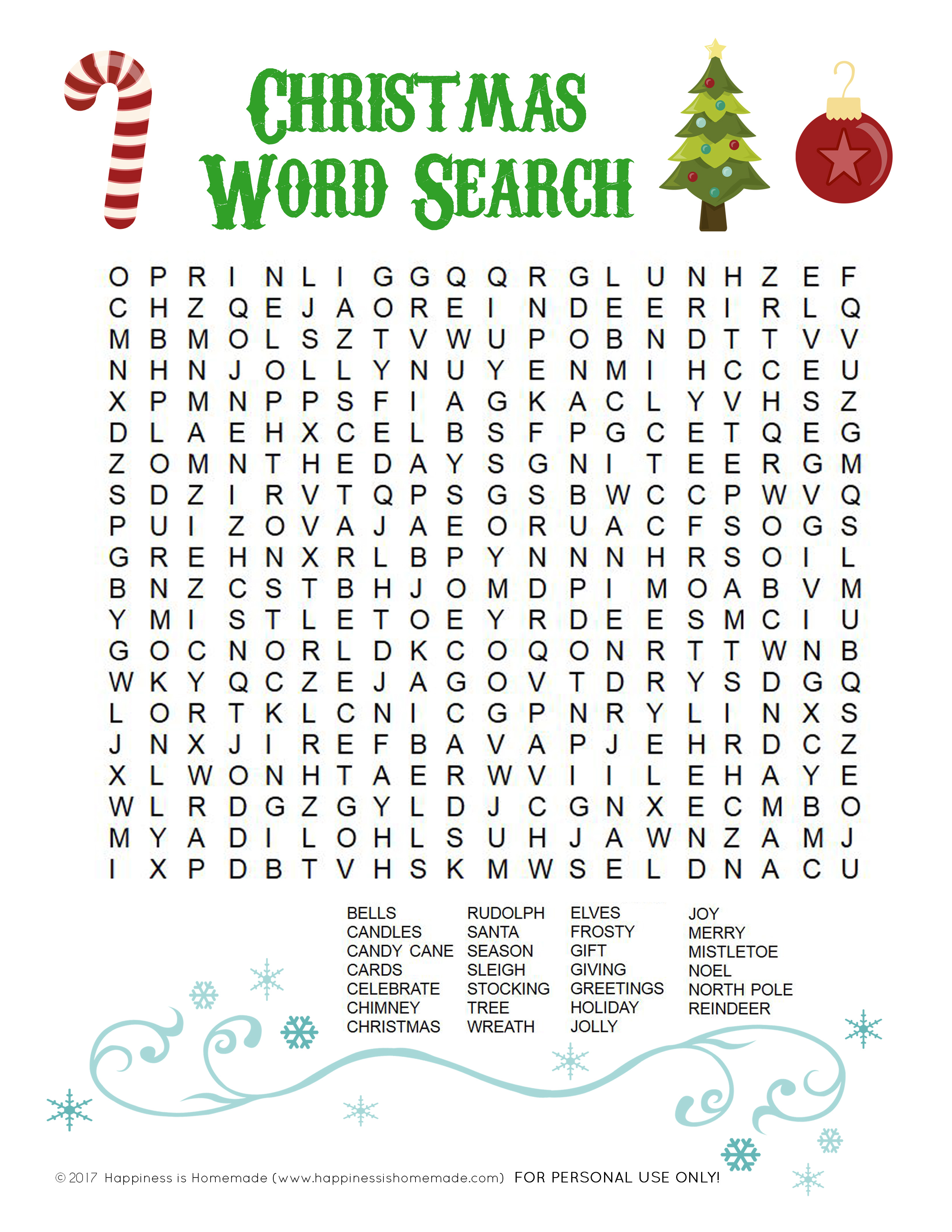 Printable Christmas Word Search For Kids Amp Adults