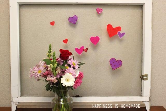 DIY Heart Window Clings with Elmer's Glue