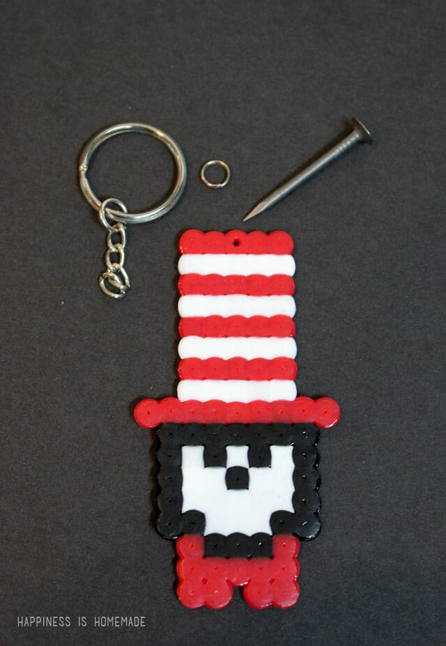 Dr Seuss Cat in the Hat Perler Beads