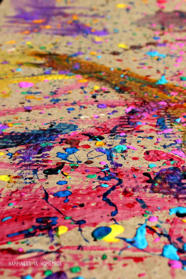 Homeschool Art Lesson - Jackson Pollock