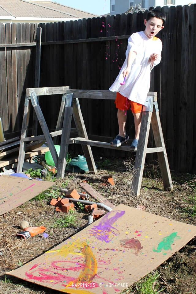 Jackson Pollock Style Kids Art