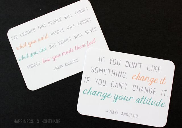 Maya Angelou Quote Project Life Sized Cards