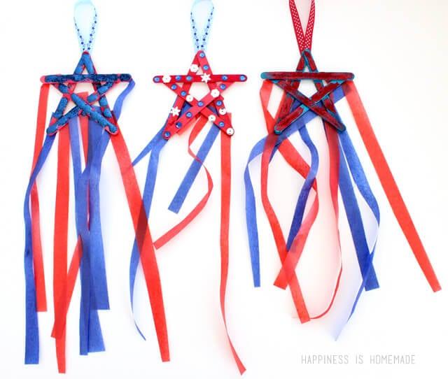 4th of July Patriotic Star Streamers Kids Craft
