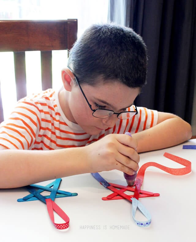 4th of July Star Kids Craft with Elmer's Early Learners Glue