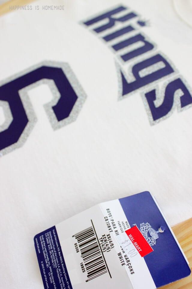 DIY NBA Sports Team Shirt on a Budget