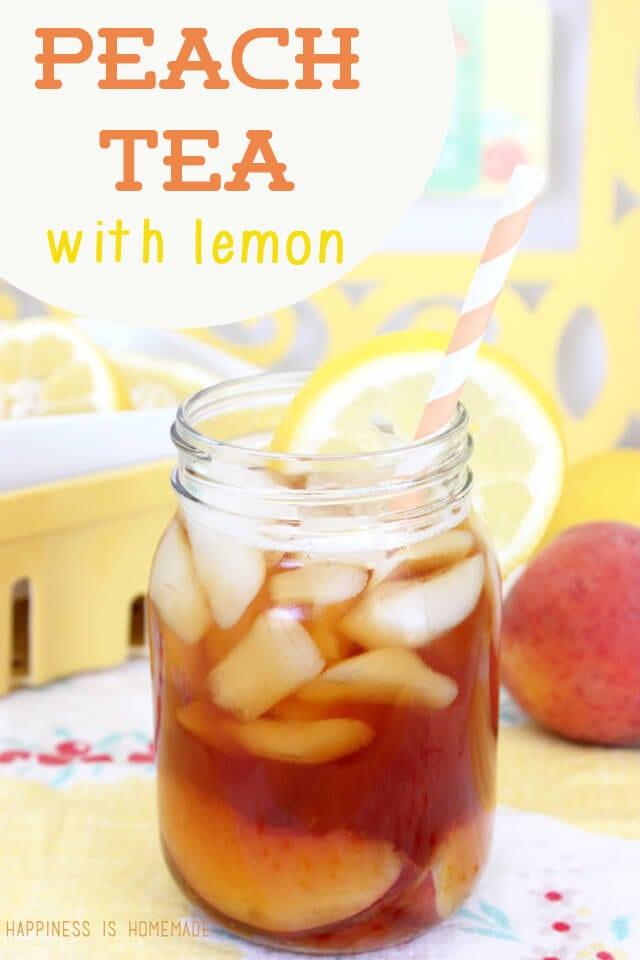 Peach Tea with Lemon