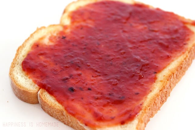 Homemade Blueberry Apricot Jam on Toast - Recipe