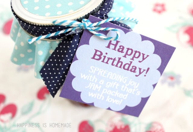 Printable Happy Birthday Jam Labels