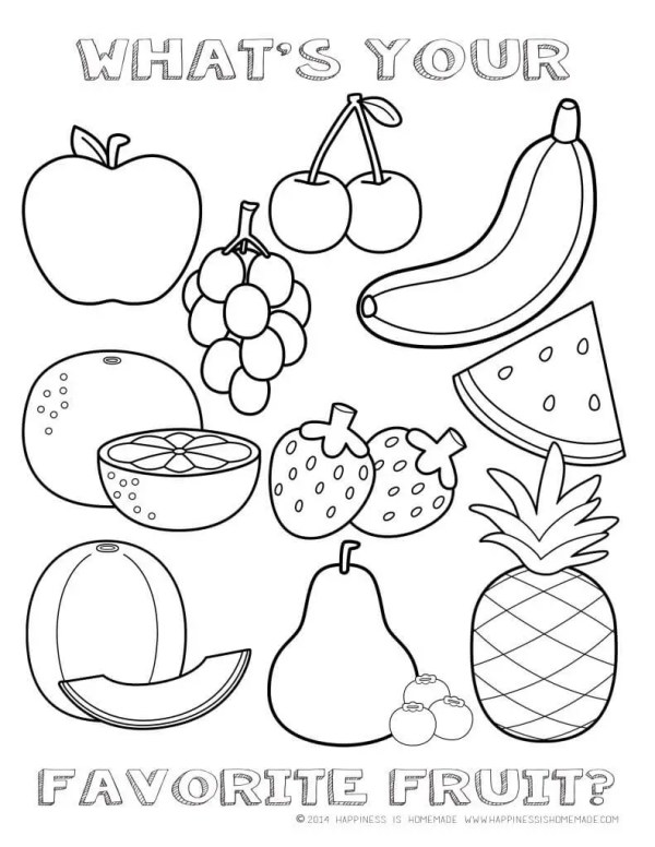 healthy food coloring pages # 0