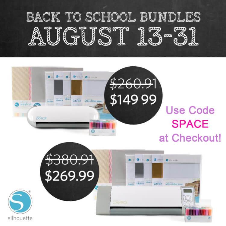 Silhouette Back to School Promo
