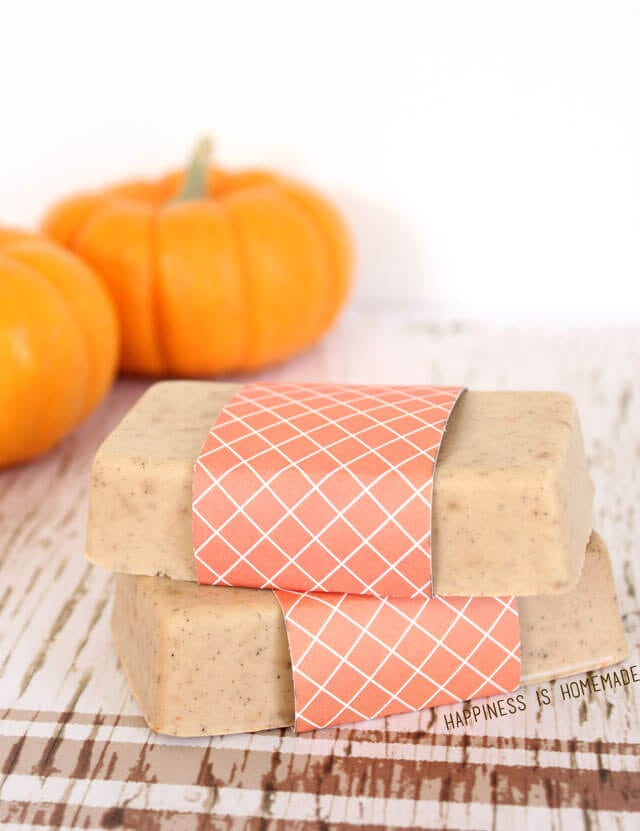 DIY Pumpkin Spice Soap