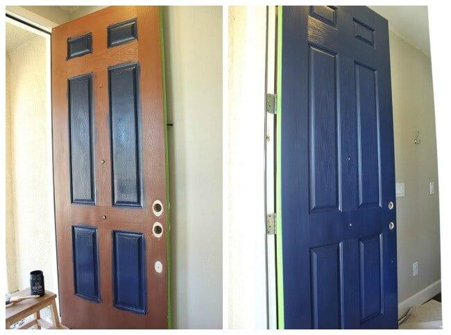 Front Door Painting in Progress