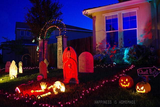 Halloween Decorated Front Yard