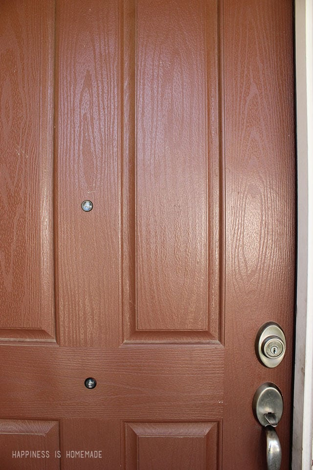 Ugly Before Front Door Color